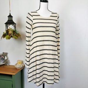 Altar'd State Striped Button Back Sweater Dress S